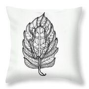 Frog On A Leaf Throw Pillow