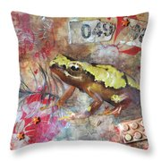 Frog Prince Throw Pillow by Jennifer Kelly