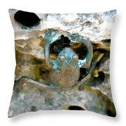 Frog Sculpture Throw Pillow