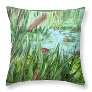 Frog Went A-courtin Throw Pillow