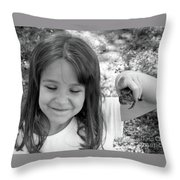 Froggy Smiles Throw Pillow