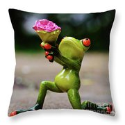 Froggy Sorry Throw Pillow