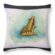 Frogs Of Borneo Ll Throw Pillow
