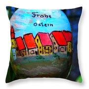 Frohe Ostern Throw Pillow