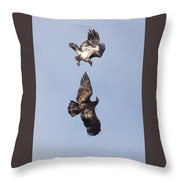 Frolicking Eagles Throw Pillow