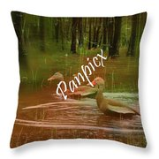 Frolicking Throw Pillow