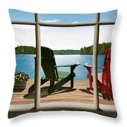 From A Window Throw Pillow
