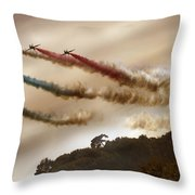From Behind The Hill Throw Pillow