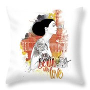 From Berlin With Love Throw Pillow