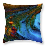 From Blue Throw Pillow