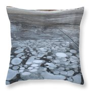 From Bubbles To Mountains Throw Pillow
