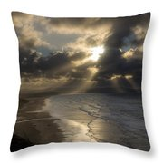 From Downhill To Donegal Throw Pillow