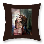 From Flesh To Stone Throw Pillow