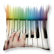 From Keyboard To Keyboard Throw Pillow