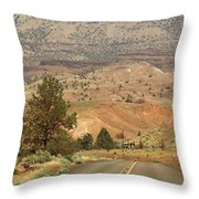 From Mitchell To Smith Rock  Throw Pillow