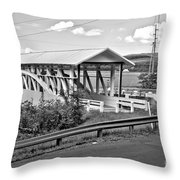 From Old To New In Bedford County Black And White Throw Pillow