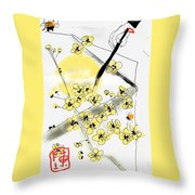 From Paper And Brush Throw Pillow