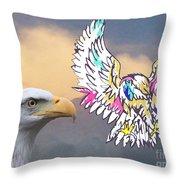 From Real To Abstraction Throw Pillow