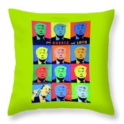 Trump From Russia With Love Throw Pillow