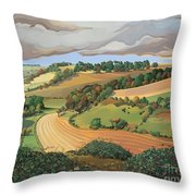 From Solsbury Hill Throw Pillow by Anna Teasdale