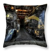 From Steam To Electric Throw Pillow