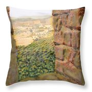 From The Castle Walls Throw Pillow