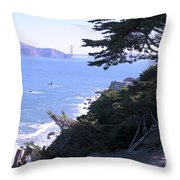 From The Cliff Of Lands' End 04 Throw Pillow