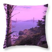 From The Cliff Of  Lands End 06 Throw Pillow