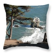 From The Cliff Of Lands' End Throw Pillow