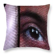 From The Corner Of Your Eye Throw Pillow