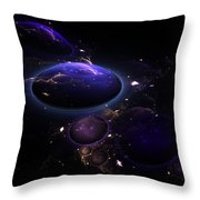 From The Depths Of Space Throw Pillow