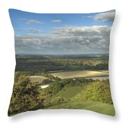 From The Downs To The Weald Throw Pillow