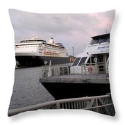 From The Ferry Dock Throw Pillow