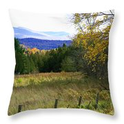 From The Field To The Mountains Throw Pillow