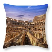 From The Floor Of The Colosseum Throw Pillow