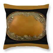 From The Foothills Bronze Tray Throw Pillow