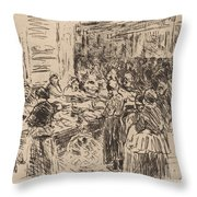 From The Jewish Quarter In Amsterdam: Fishmarket On The Street Corner Throw Pillow
