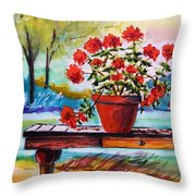 From The Potting Shed Throw Pillow by John Williams