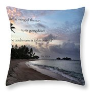 From The Rising... Throw Pillow