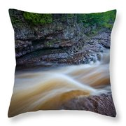 From The Top Of Temperence River Gorge Throw Pillow