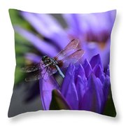 From The Water Lily Garden Throw Pillow