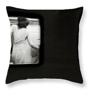 From The Window's Train Throw Pillow