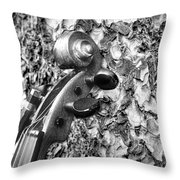 From Tree To Music Throw Pillow