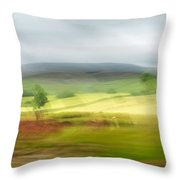 heading north of Yorkshire to Lake District - UK 1 Throw Pillow