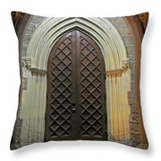 Front Door Christ Church Cathedral 4 Throw Pillow