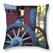 Front End Of A Mccormic Deering Tractor Throw Pillow