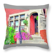 Front Entrance Throw Pillow
