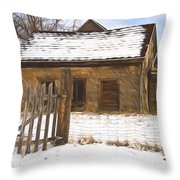 Pioneer Home Painterly Impression Throw Pillow