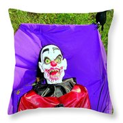 Front Lawn Funeral Throw Pillow