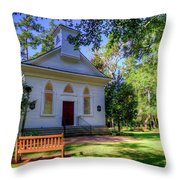 Front Of A Small Church Throw Pillow